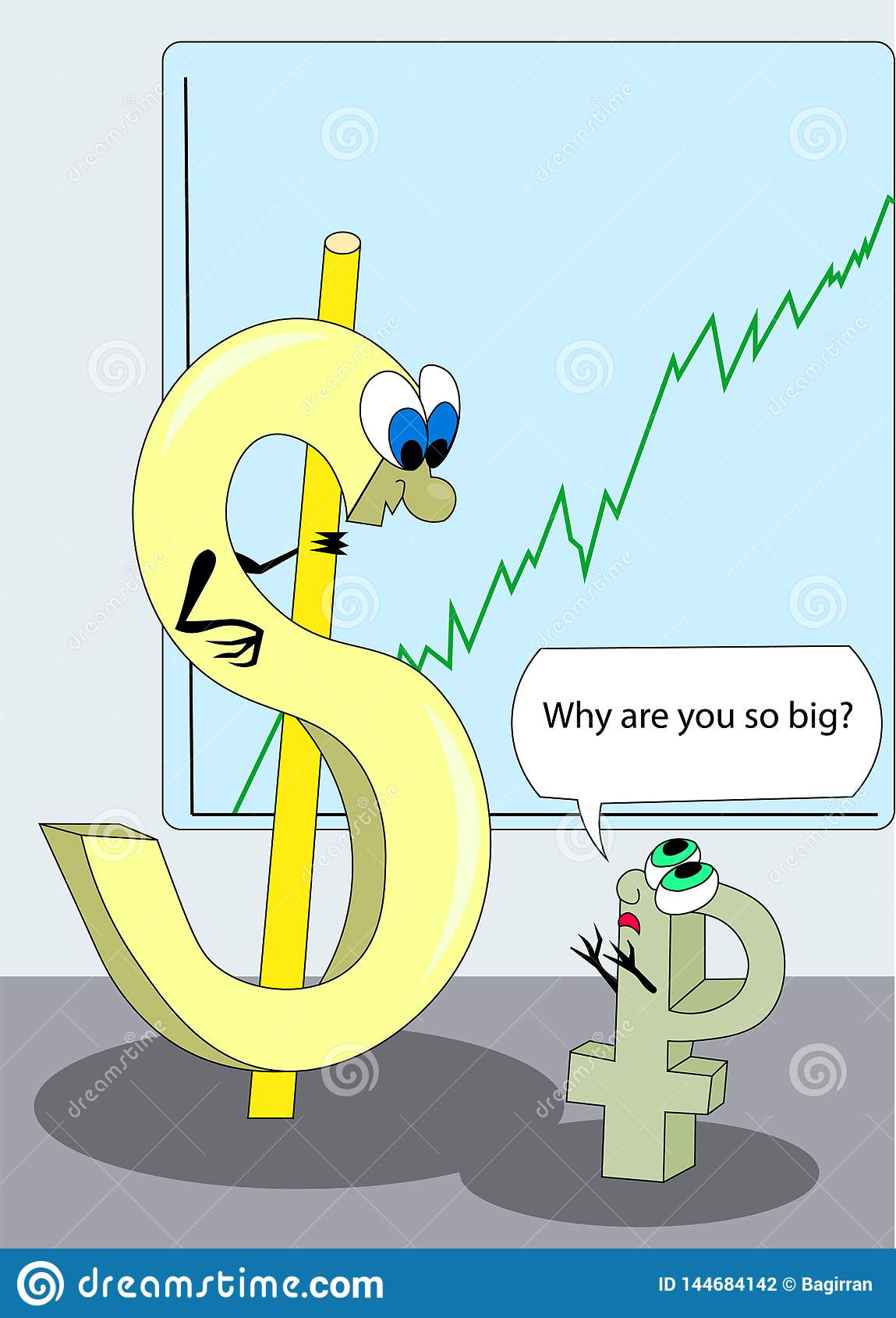 Stor dollar och liten rubel