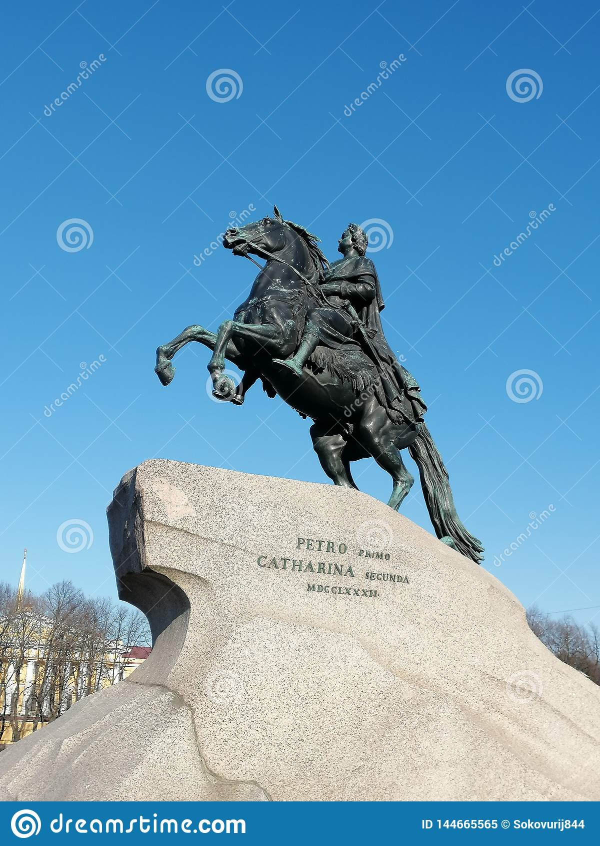 Stor monument peter till tsar