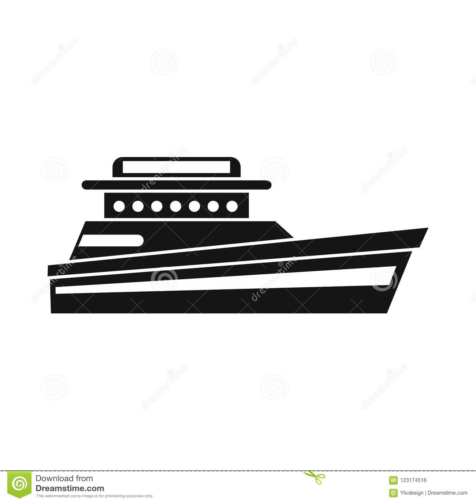 Stor powerboatsymbol, enkel stil