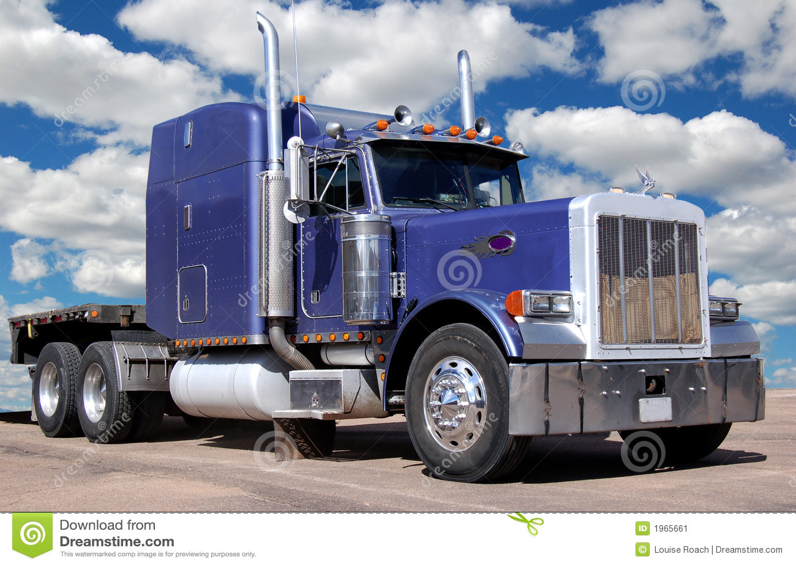 Stor purpur lastbil