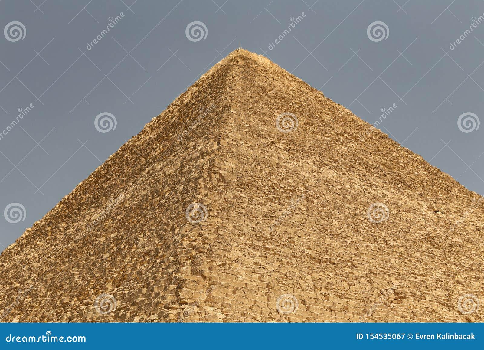 Stor pyramid av Giza i det Giza pyramidkomplexet, Kairo, Egypten