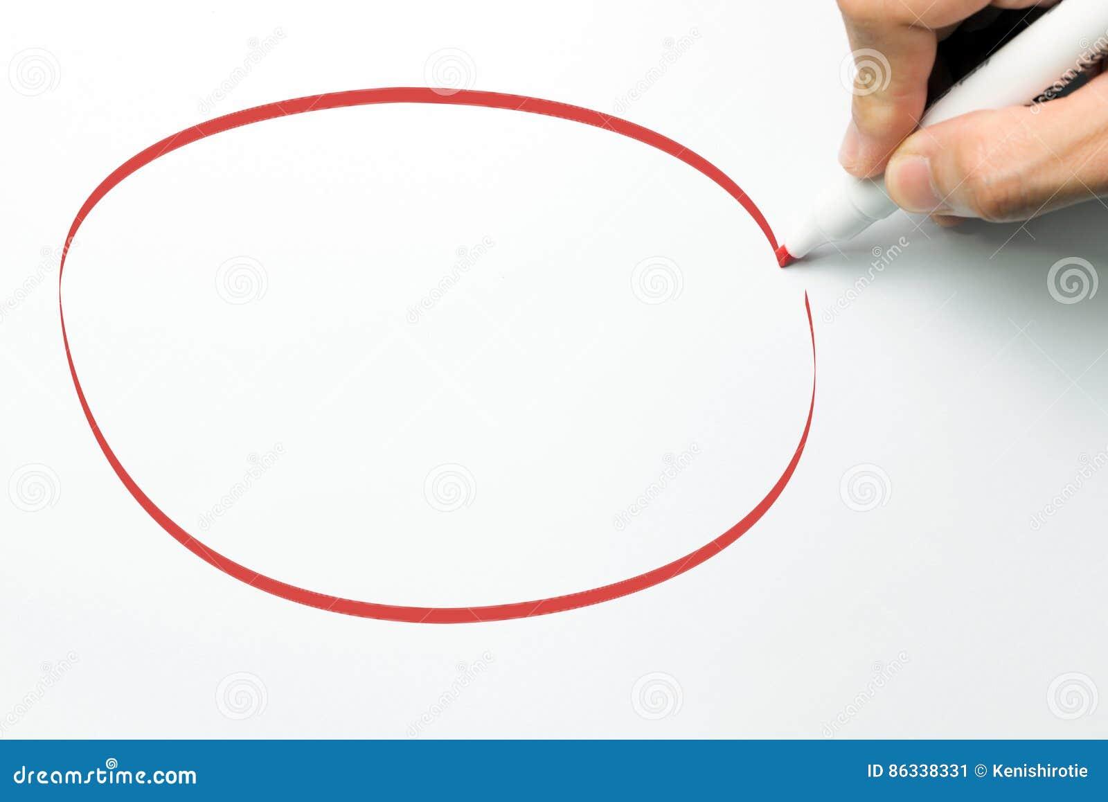 Stor röd cirkel