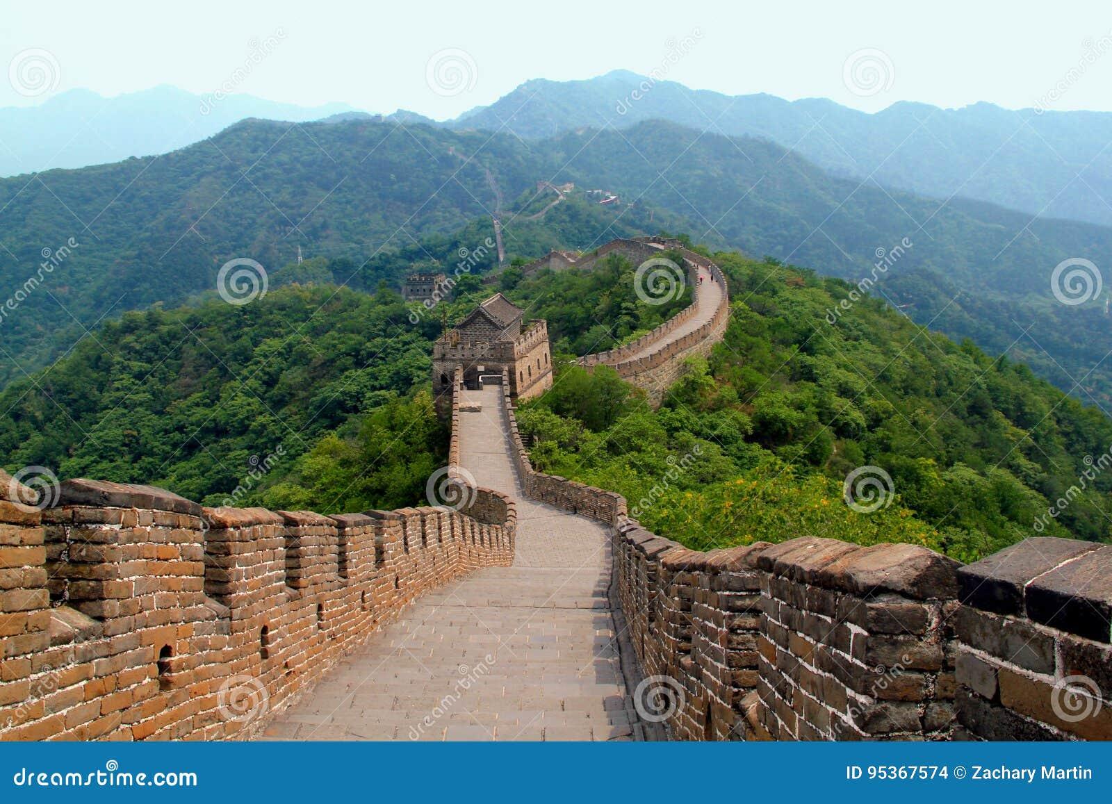 Stor vägg av den Kina platsen