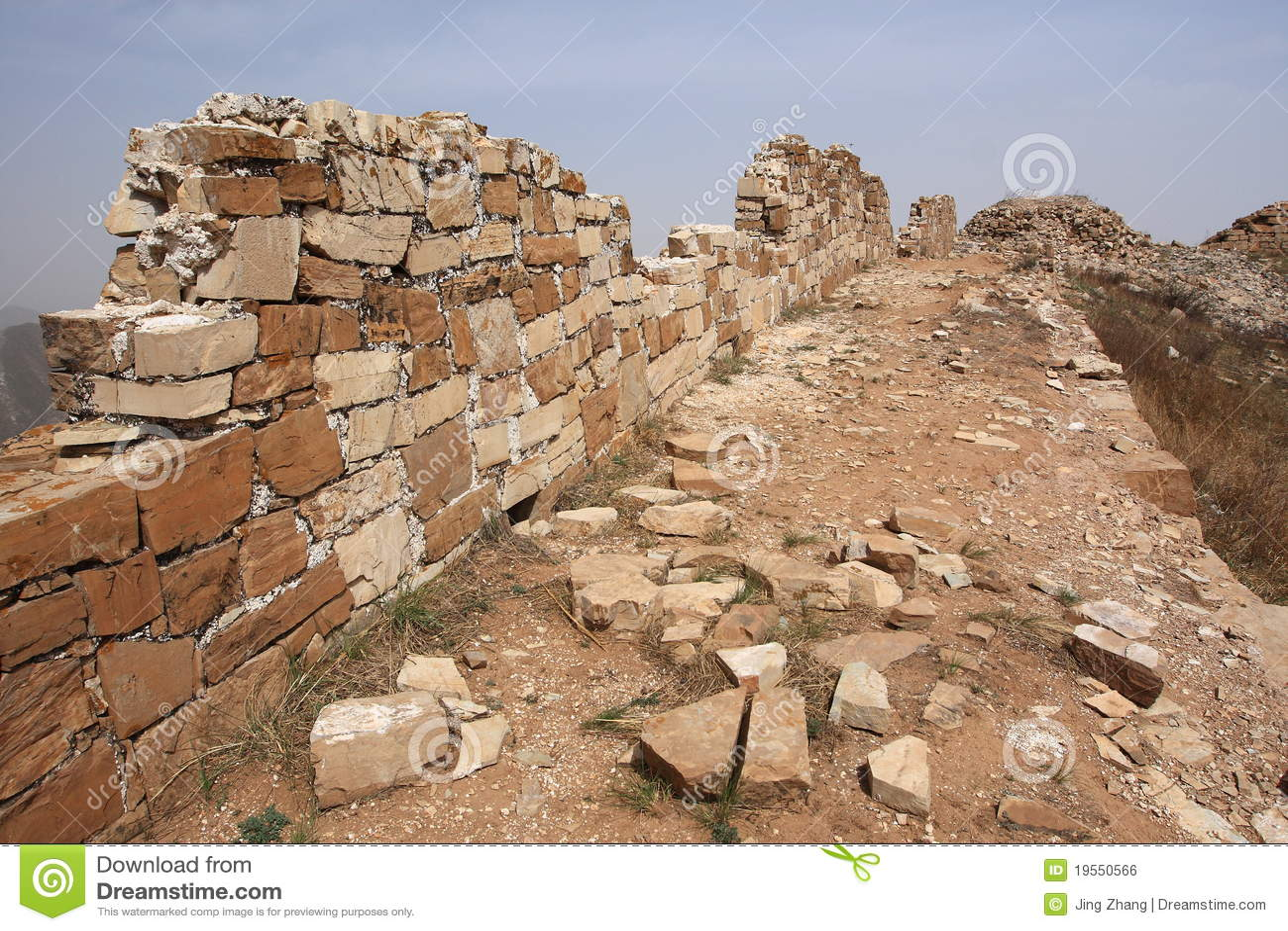 Stor vägg för porslin