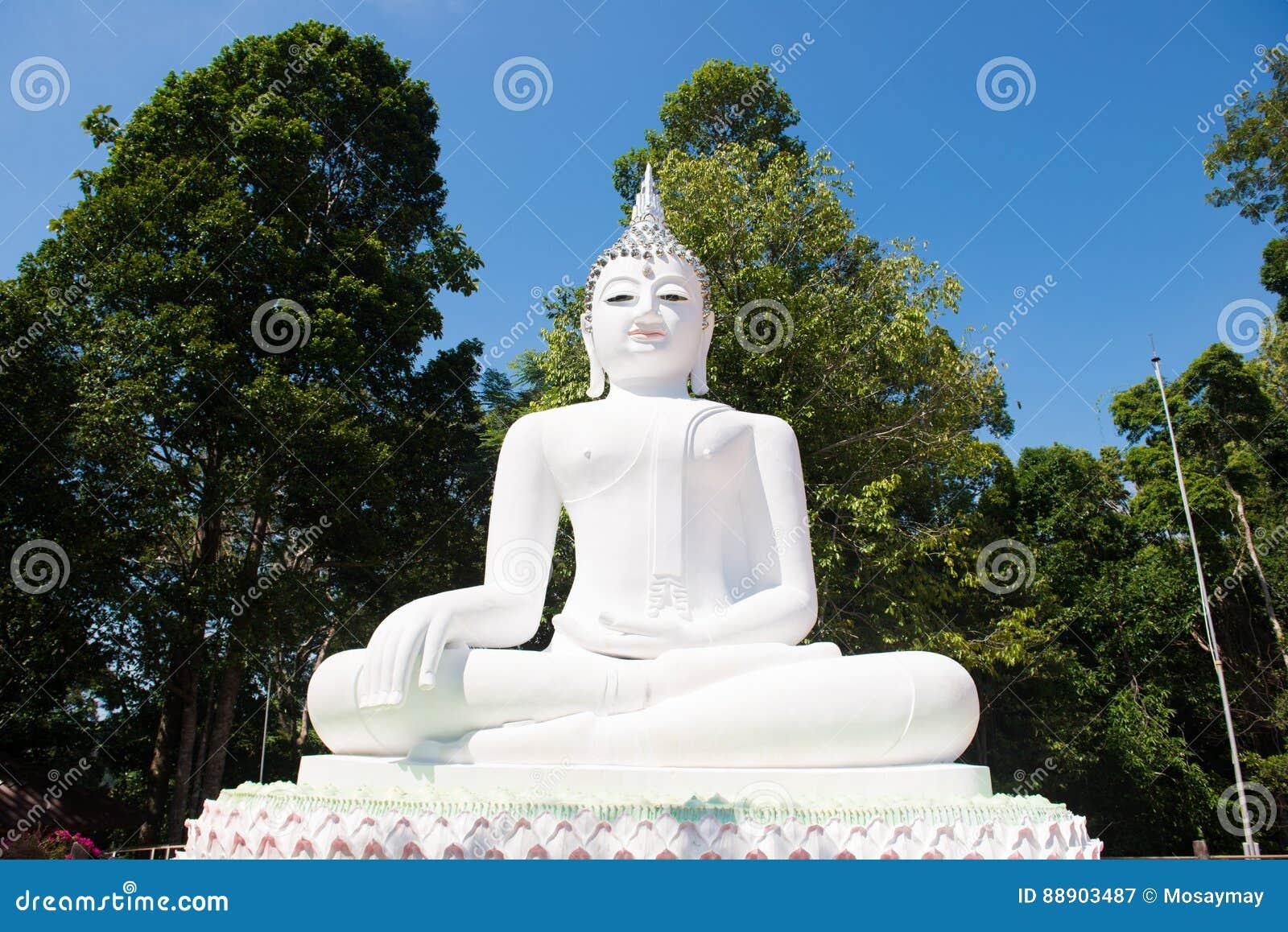 vit buddha staty