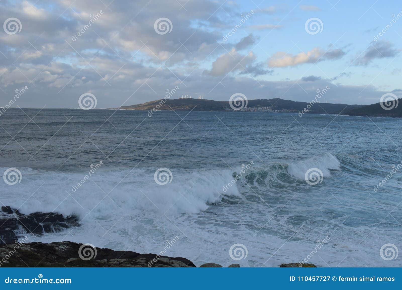 Stora vågor i Galicia