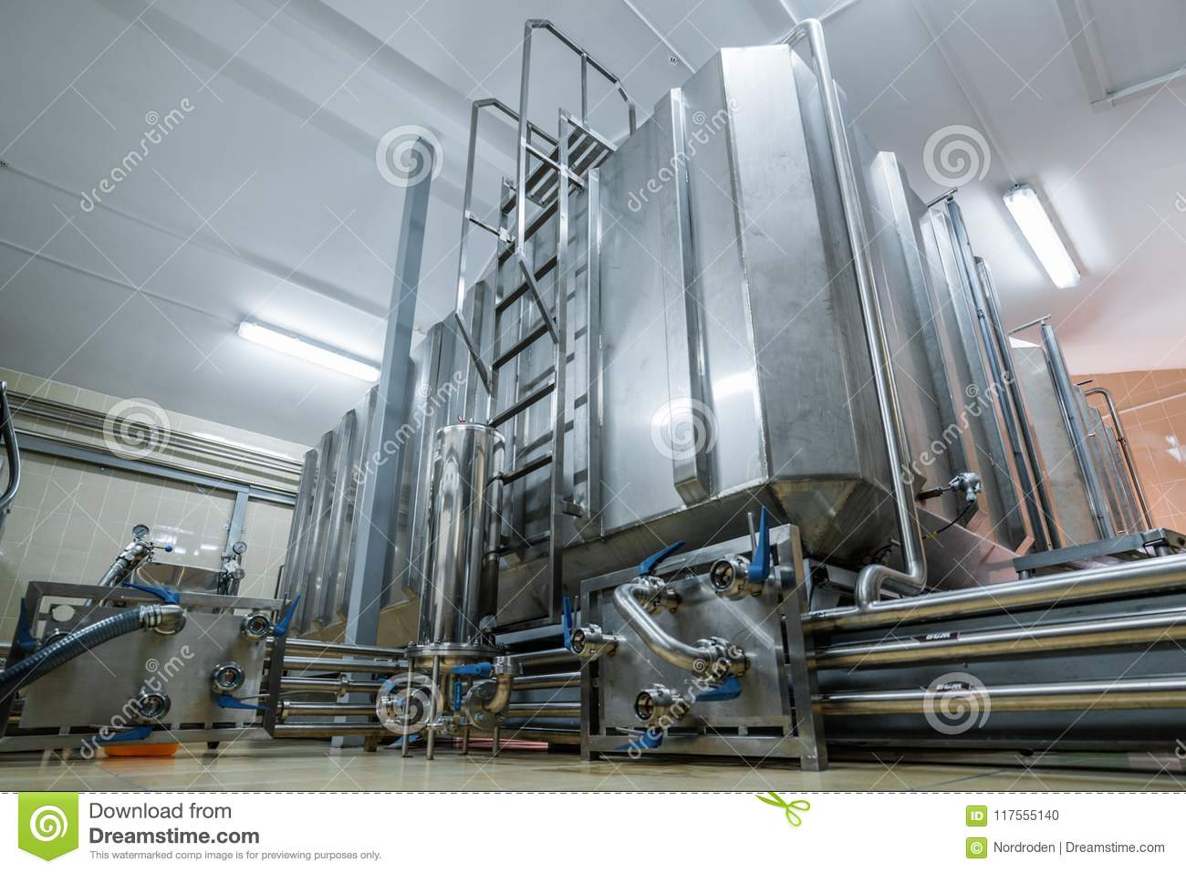 a123ffca4005e Storage Of Liquid With Stainless Steel Tanks. Stock Photo - Image of ...