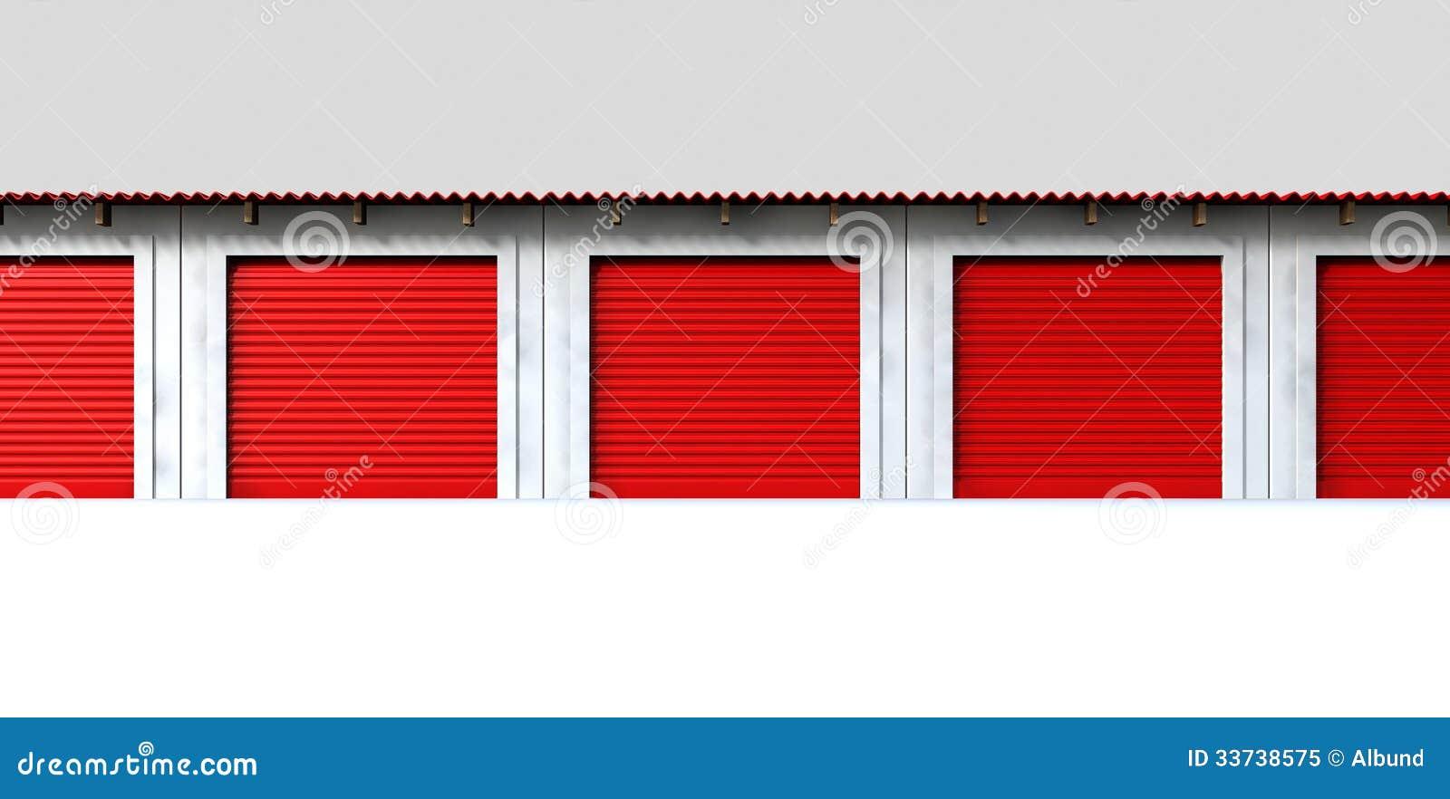 Storage Lockers Front Stock Illustration. Illustration Of Mini   33738575