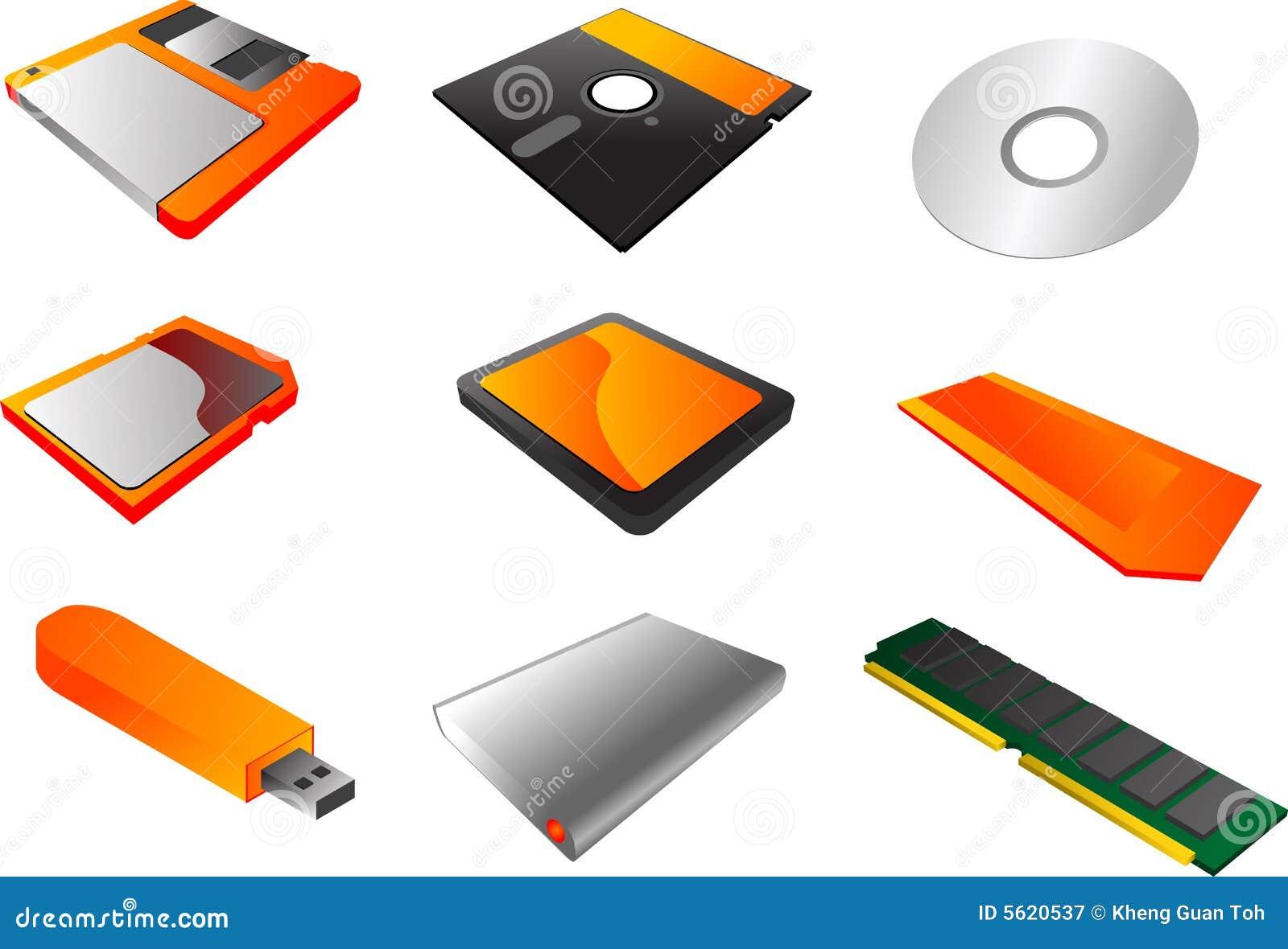 Storage media clipart