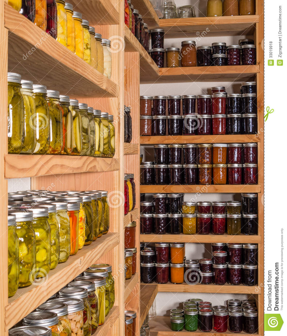 Cool Storage Shelves With Canned Food Stock Photo Image Of Download Free Architecture Designs Ferenbritishbridgeorg