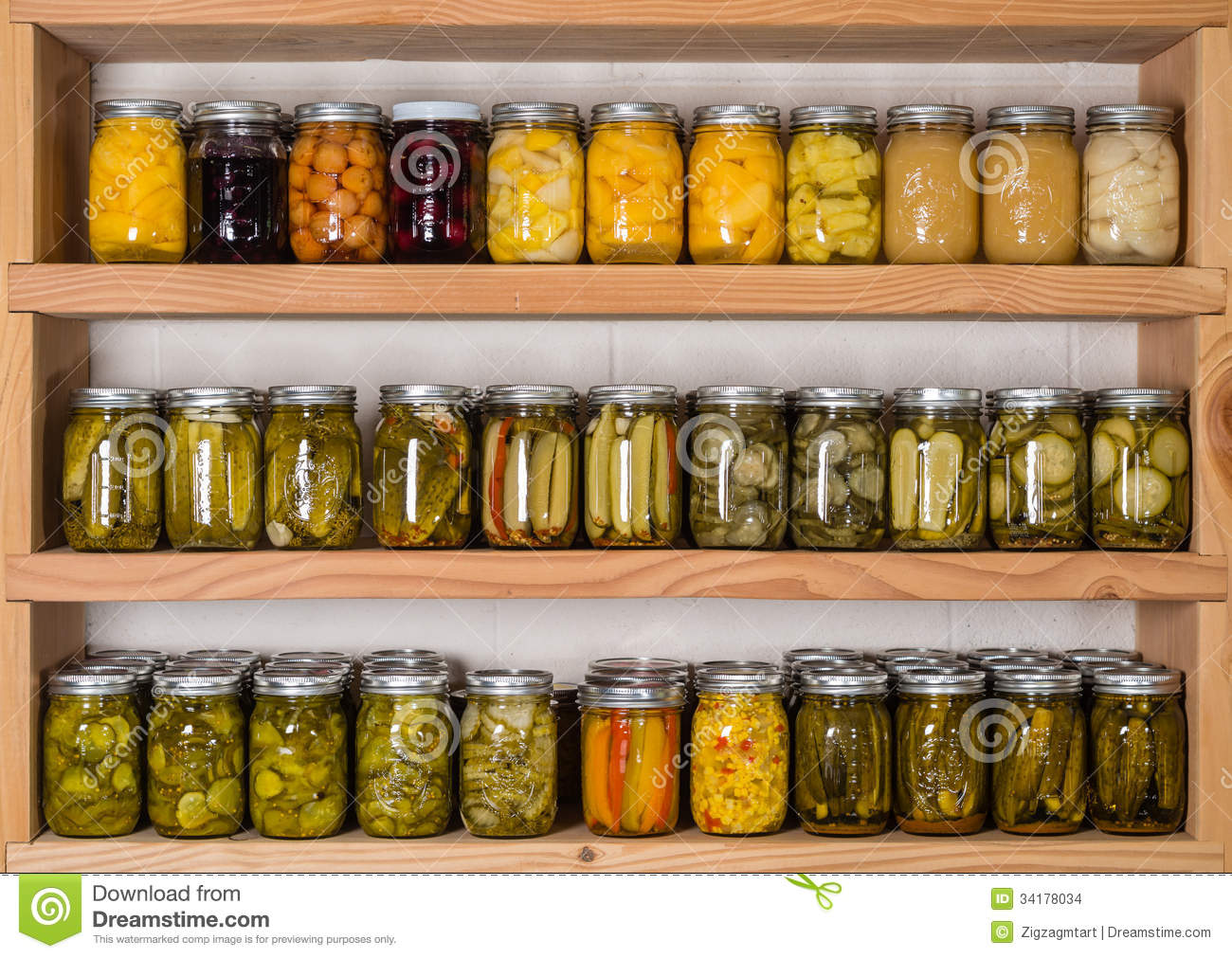 Miraculous Storage Shelves With Canned Food Stock Photo Image Of Download Free Architecture Designs Ferenbritishbridgeorg
