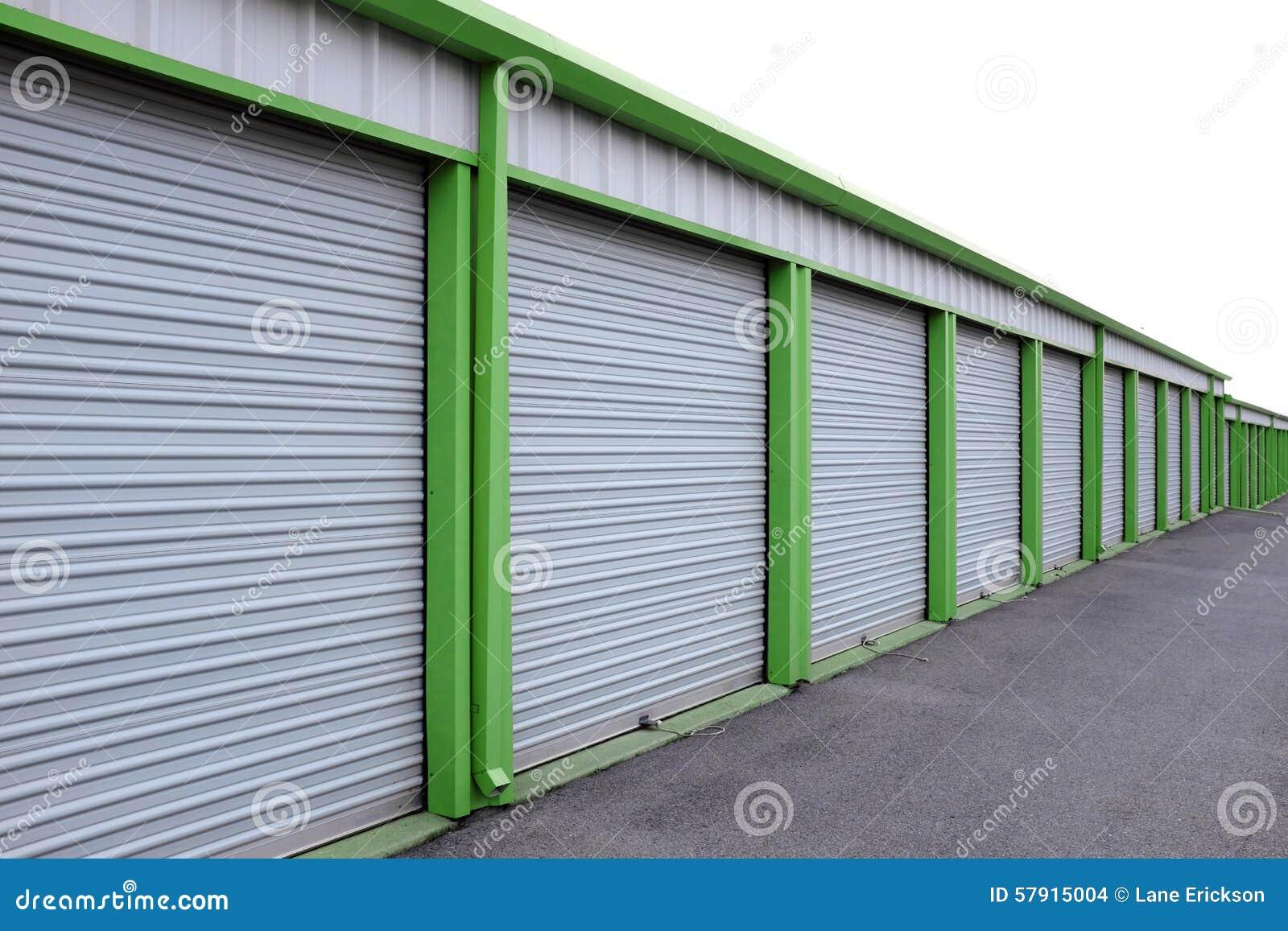 Storage Units With Sliding Doors Stock Photo Image Of Building