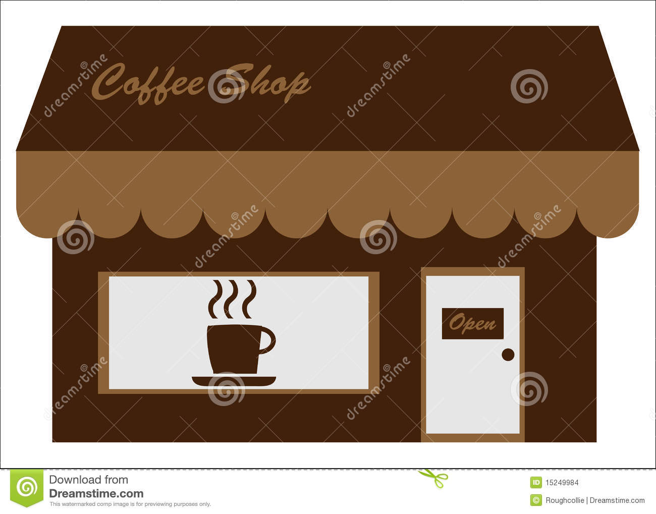 Logo or business / company card concept for a coffee shop / cafe.