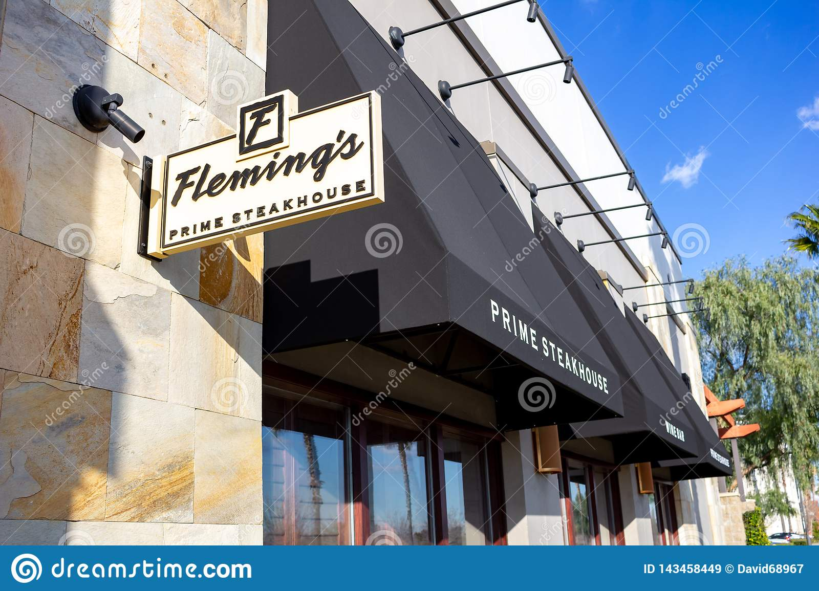 Store front for Fleming`s