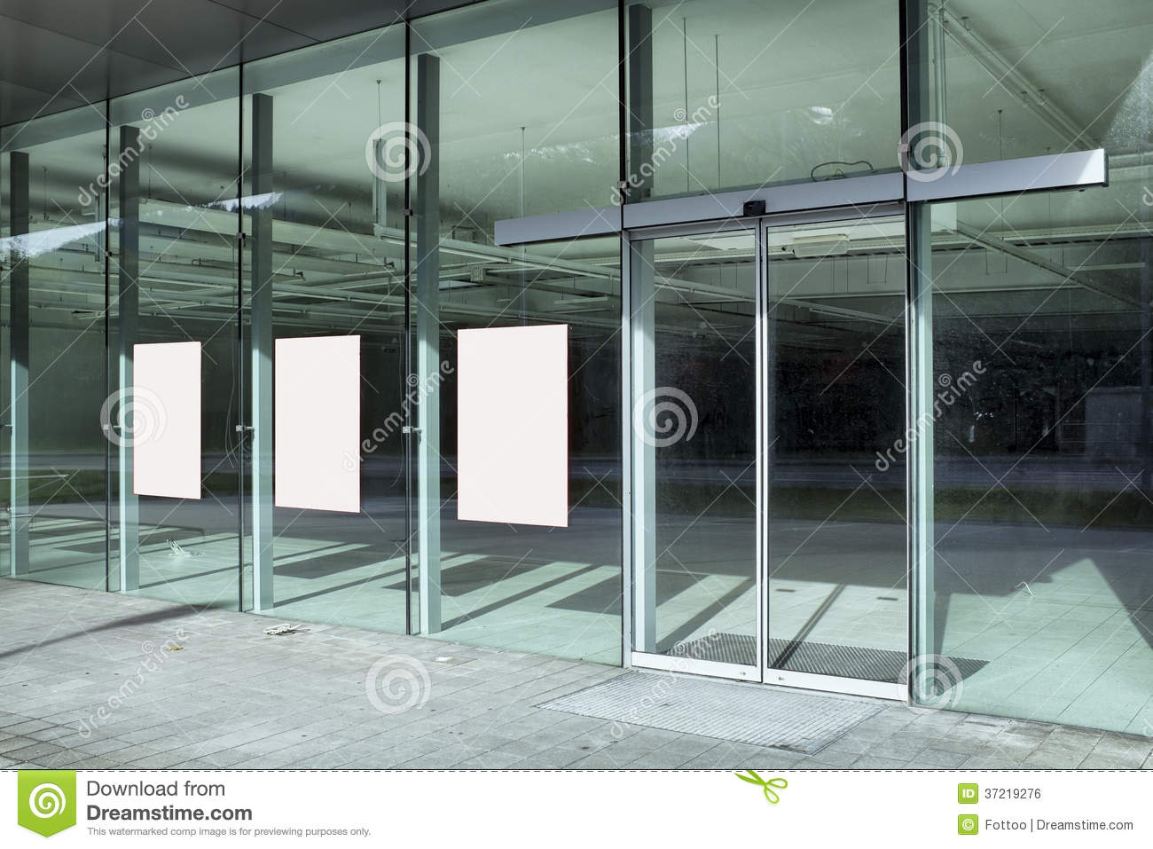 Store Front Stock Photo Image Of Sunlight Glass Placard