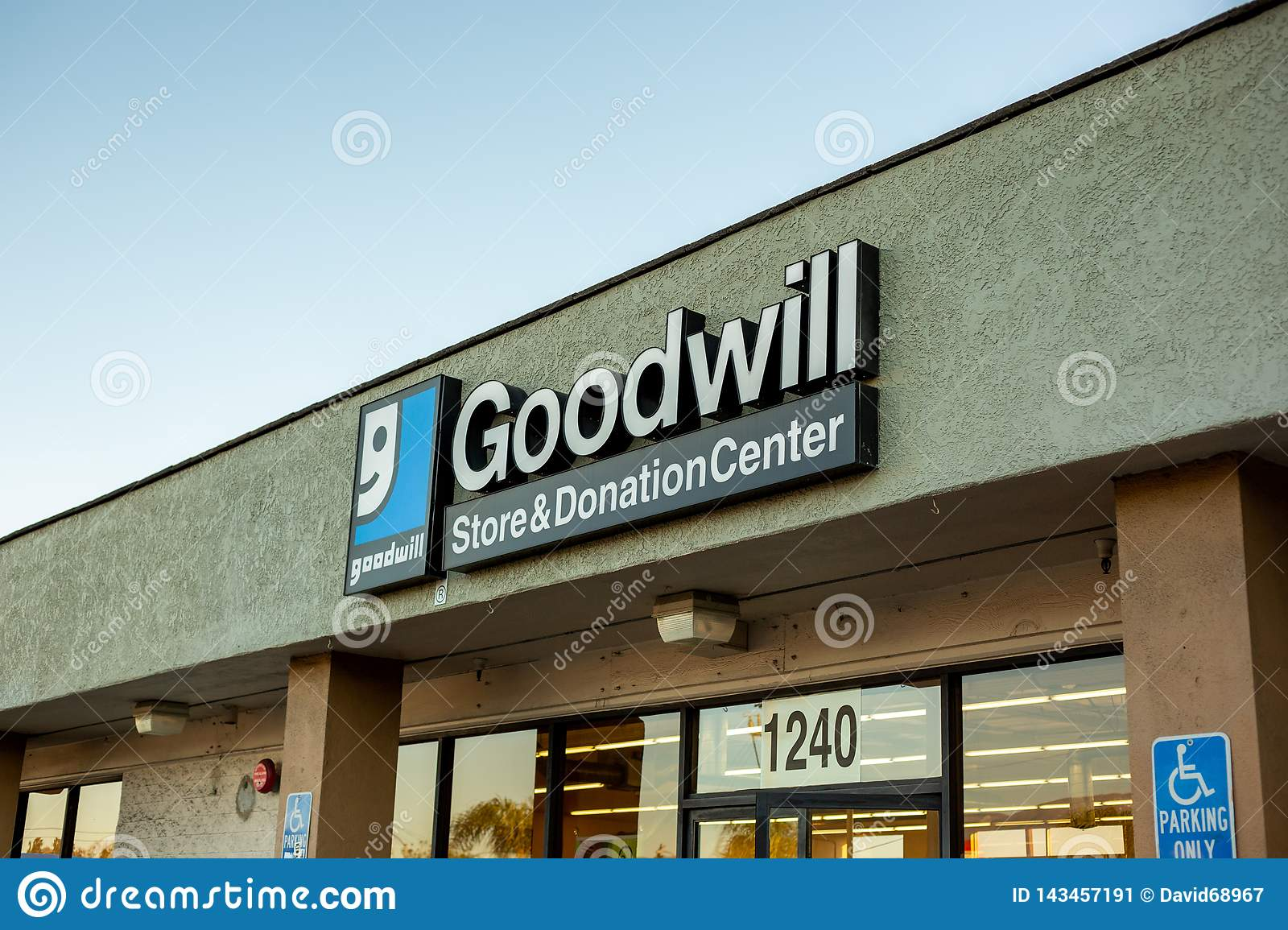 Store front sign for Goodwill