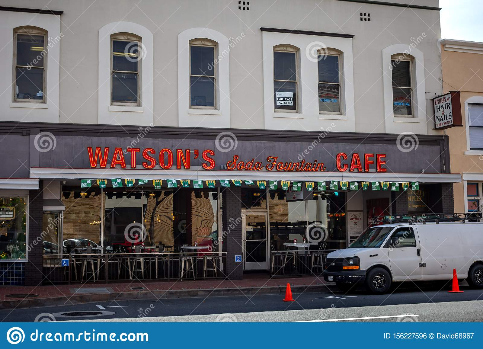 Watson S Soda Fountain Cafe Restaurant Sign Editorial Photo Image Of Business Foodie 156227596