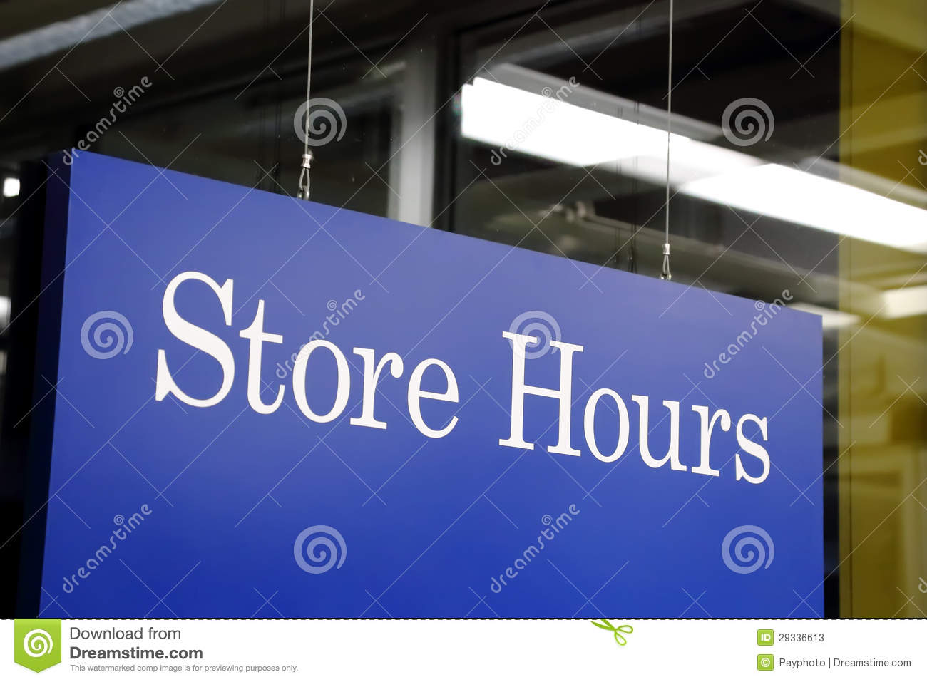 Store Hours Sign Stock Photos Image 29336613