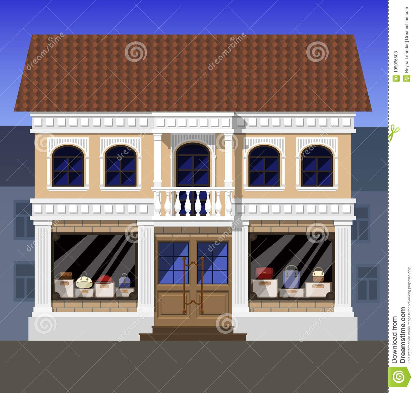 16d5d5c38f The shop of luxury bags, located on the first floor of an old house in a  classical style, in the historical part of the city. On the second floor  there is ...