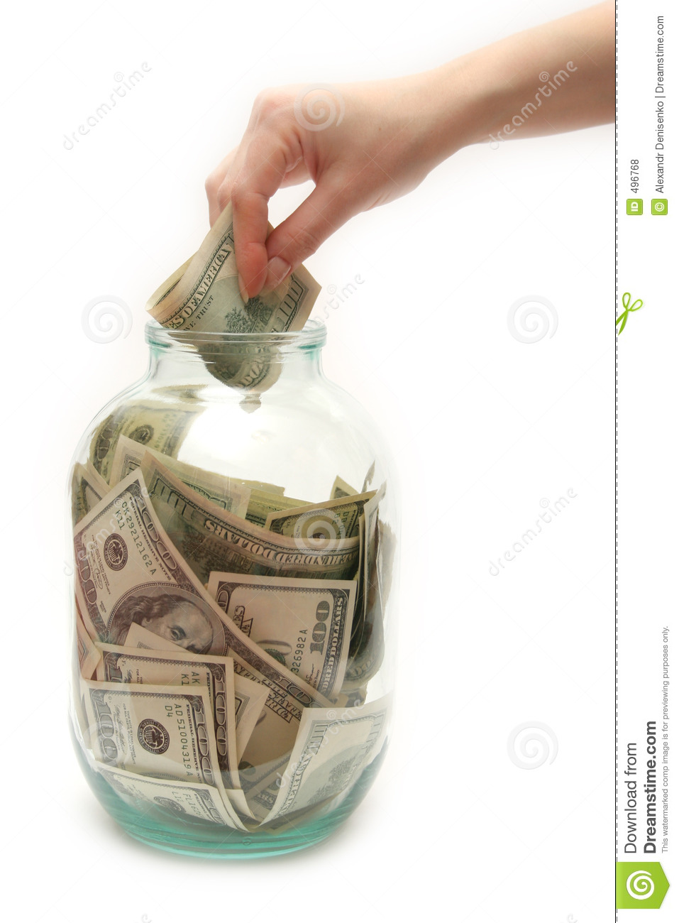 Store Money In Bank Royalty Free Stock Photos - Image: 496768