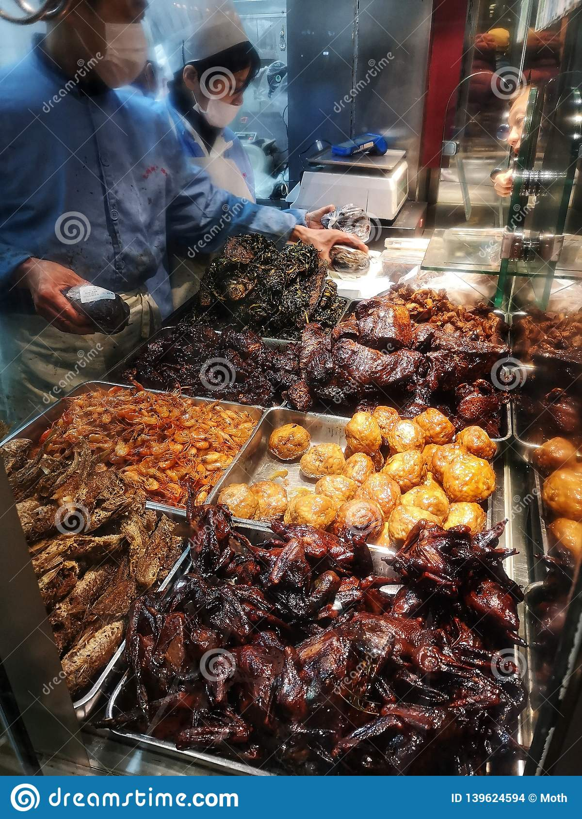 Store selling cooked cold dishes in China Shanghai
