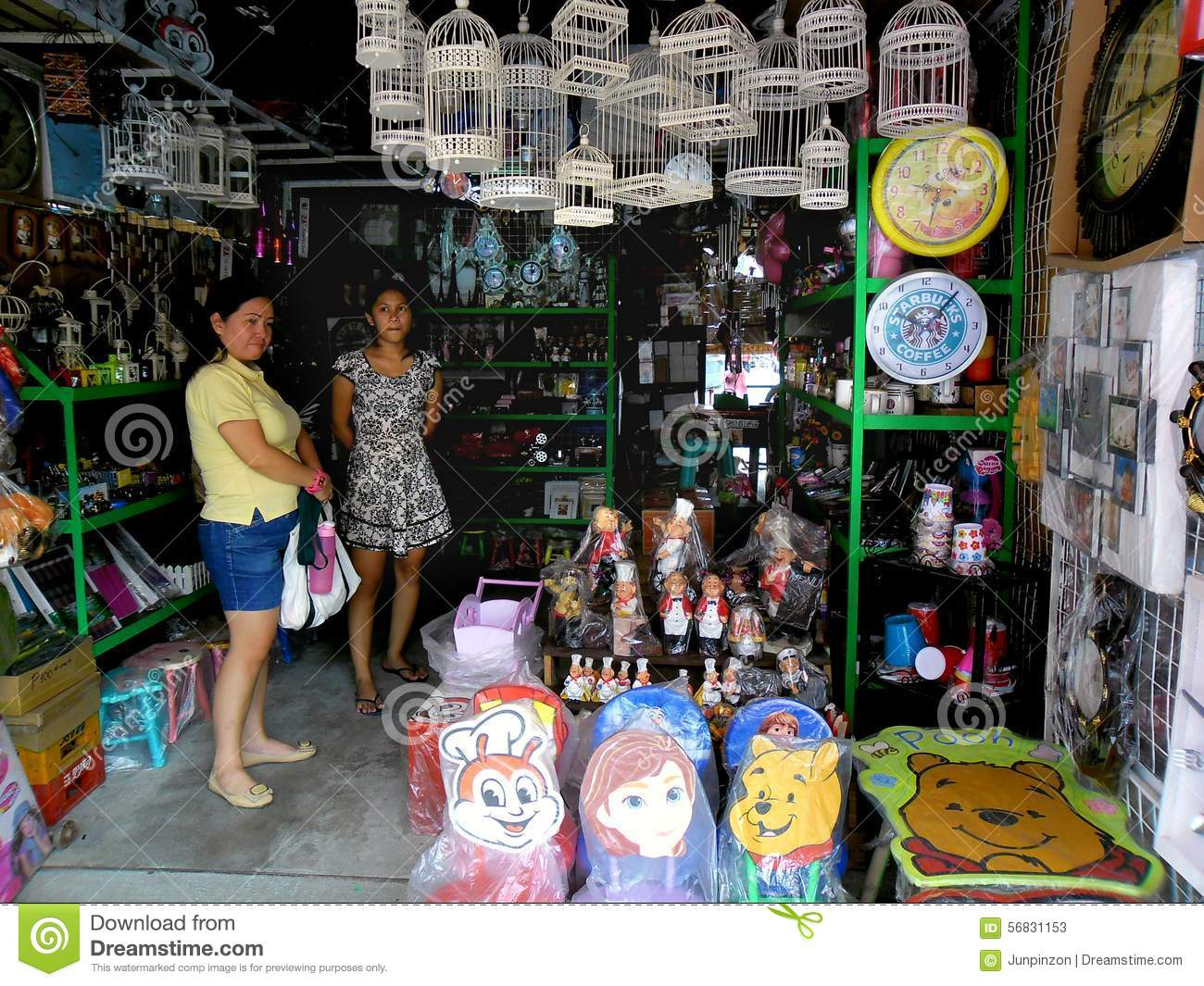Store Selling Home Decors In Dapitan Arcade In Manila City Philippines In Asia Editorial Stock