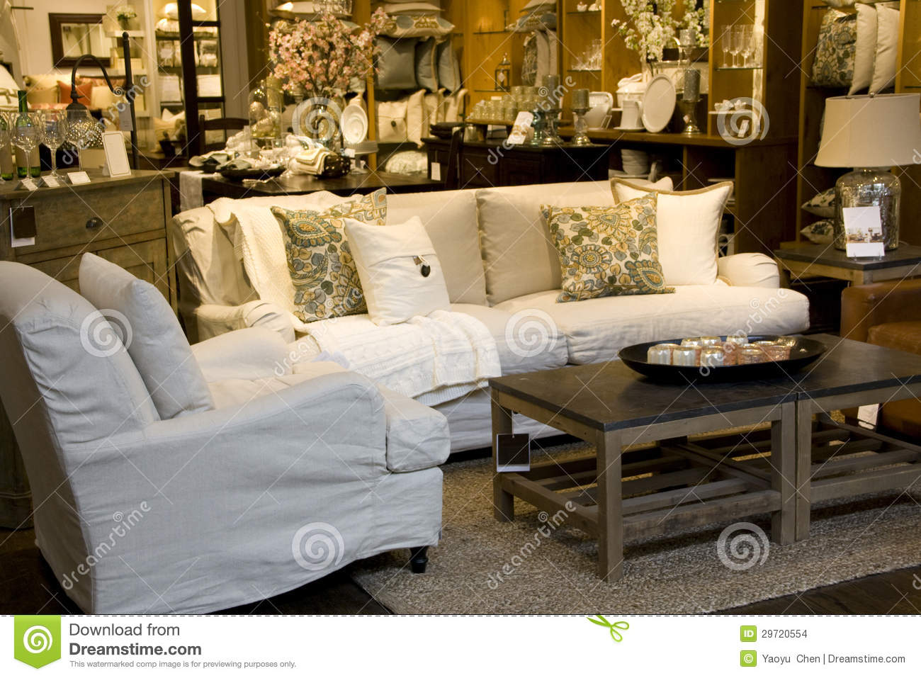 Furniture and home decor store stock images image 29720554 for Home decor furniture stores