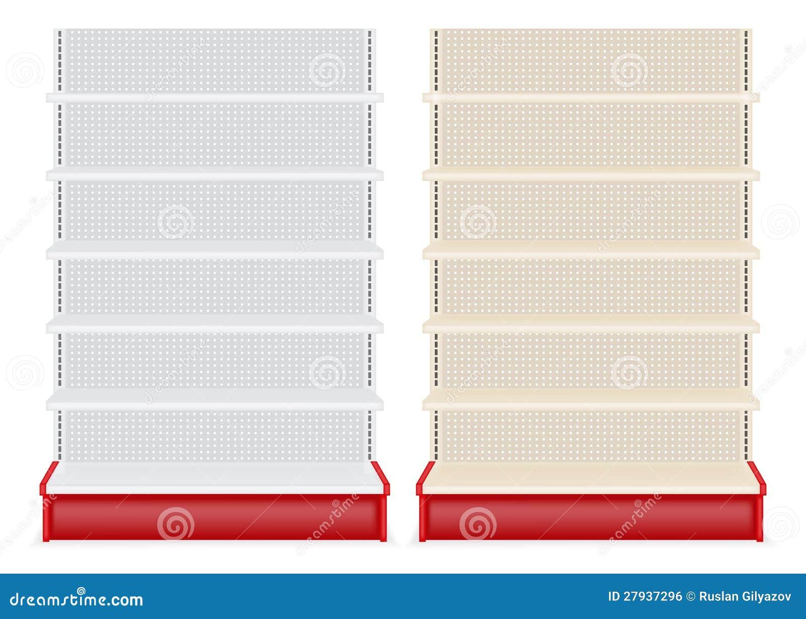Store Shelf Stock Vector Image Of Fixtures Facilities