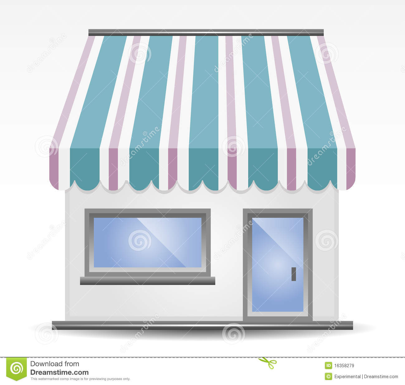 Storefront Awning Stock Vector Image Of Blue