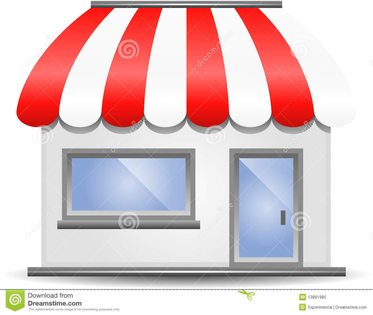 Storefront Awning In Red Royalty Free Stock Photo Image