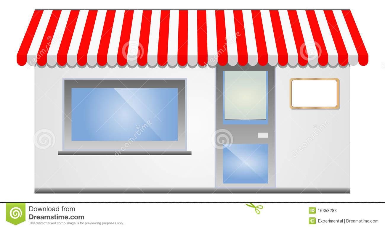 storefront awning in red stock vector illustration of corner 16358283 rh dreamstime com bakery storefront clipart storefront window clipart