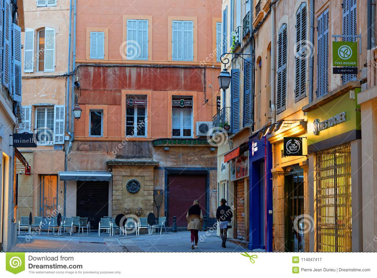 stores in old town of aix en provence editorial photography image of provence aixenprovence. Black Bedroom Furniture Sets. Home Design Ideas