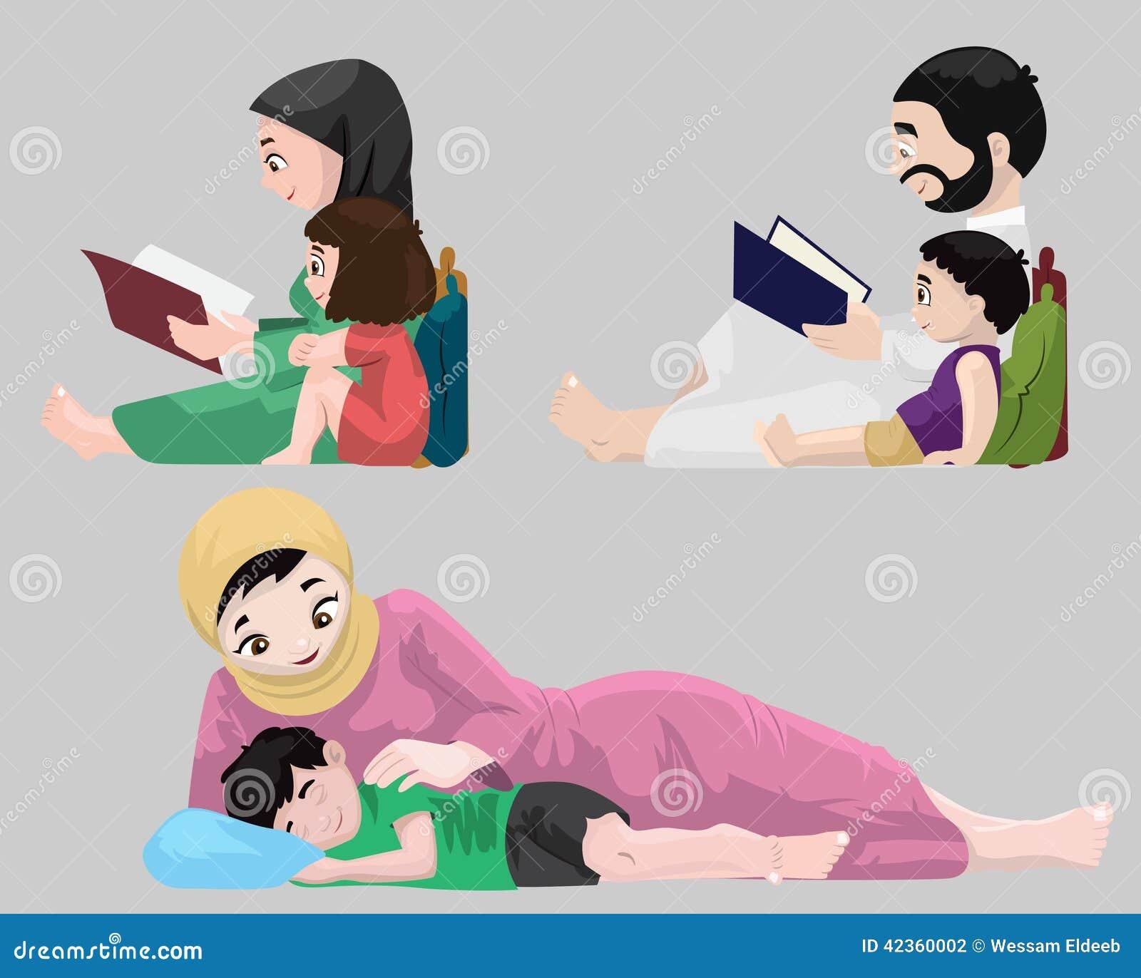 Storie di ora di andare a letto degli arabi illustrazione - Storie di letto ...