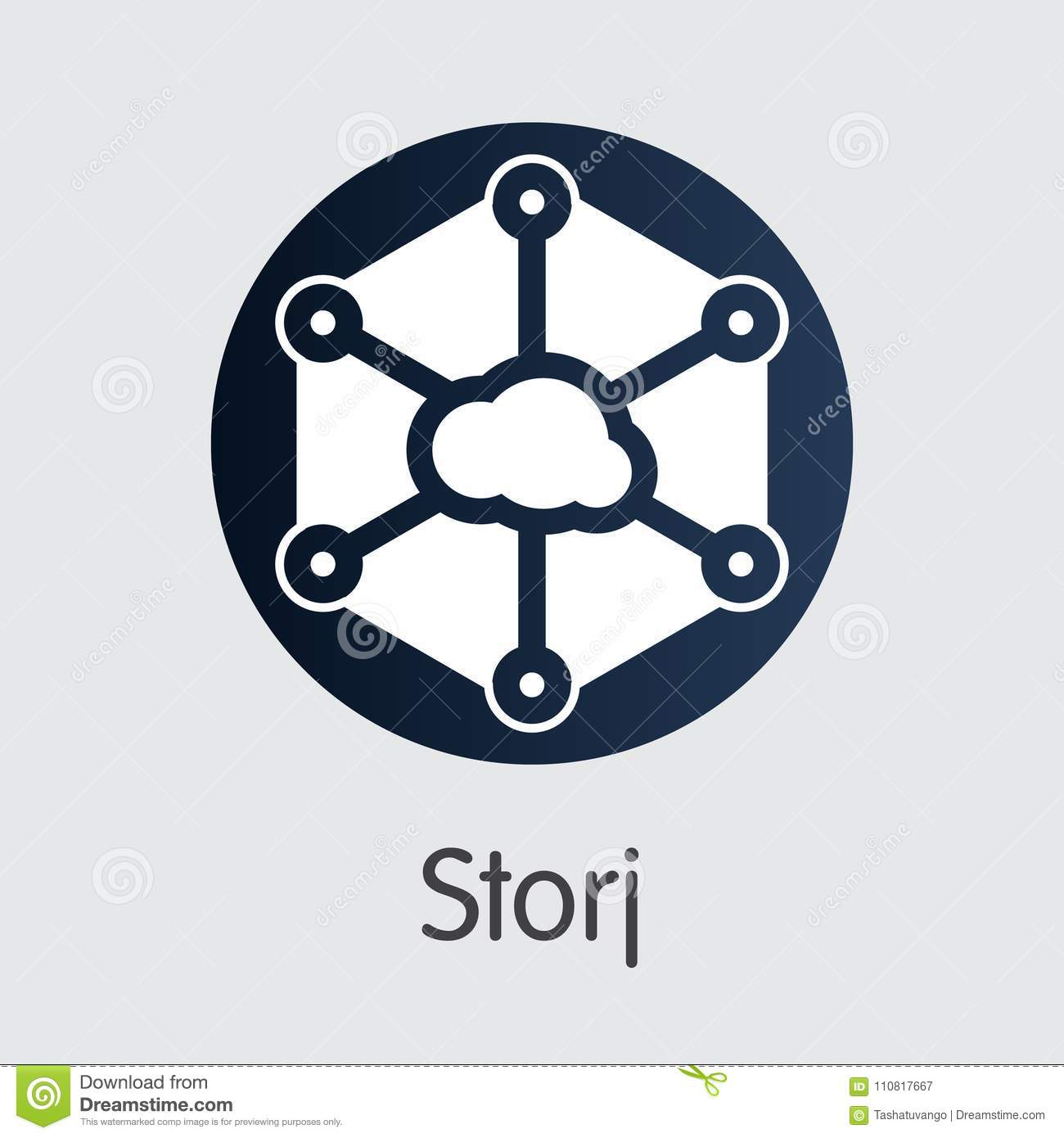Storj Cryptocurrency Coin Vector Symbol Of Storj Stock Vector