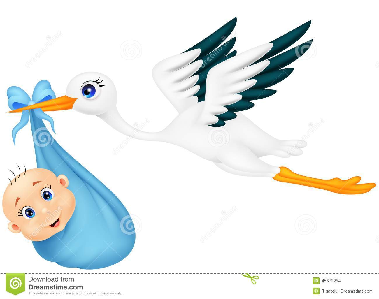 stork with baby boy stock vector image of holding baby announcement clipart free baby announcement clipart free