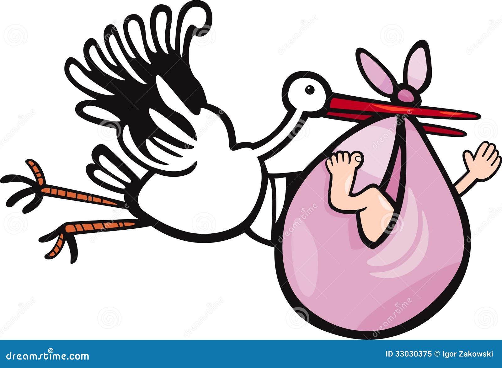 Clip Art Stork Delivering Baby | Free | Download