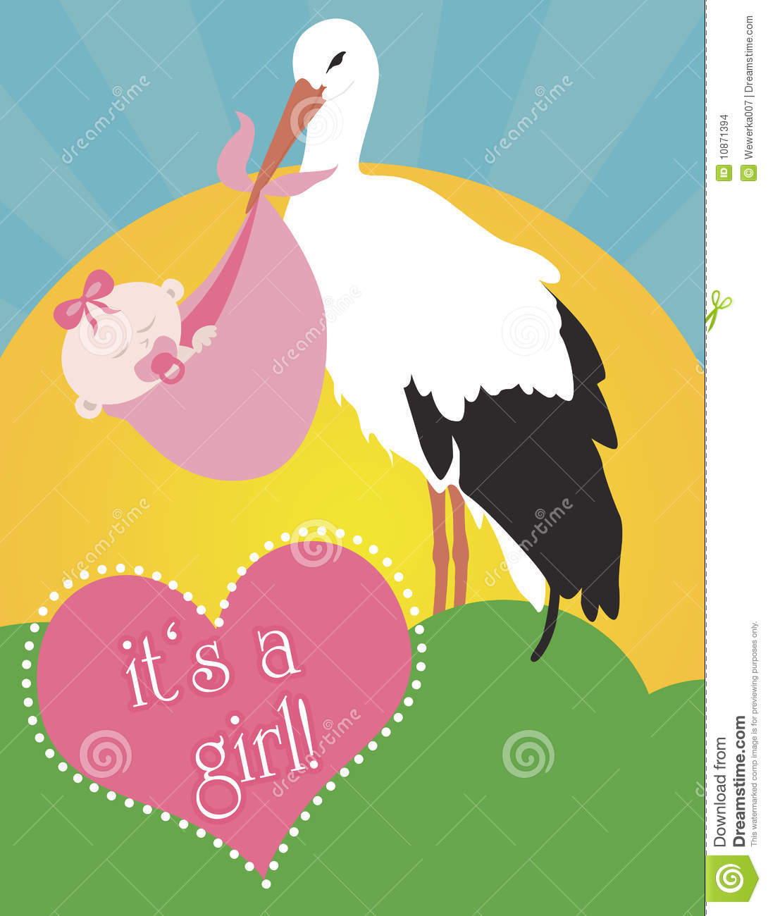 Stork Carrying Baby Girl Stock Illustrations 338 Stork Carrying Baby Girl Stock Illustrations Vectors Clipart Dreamstime