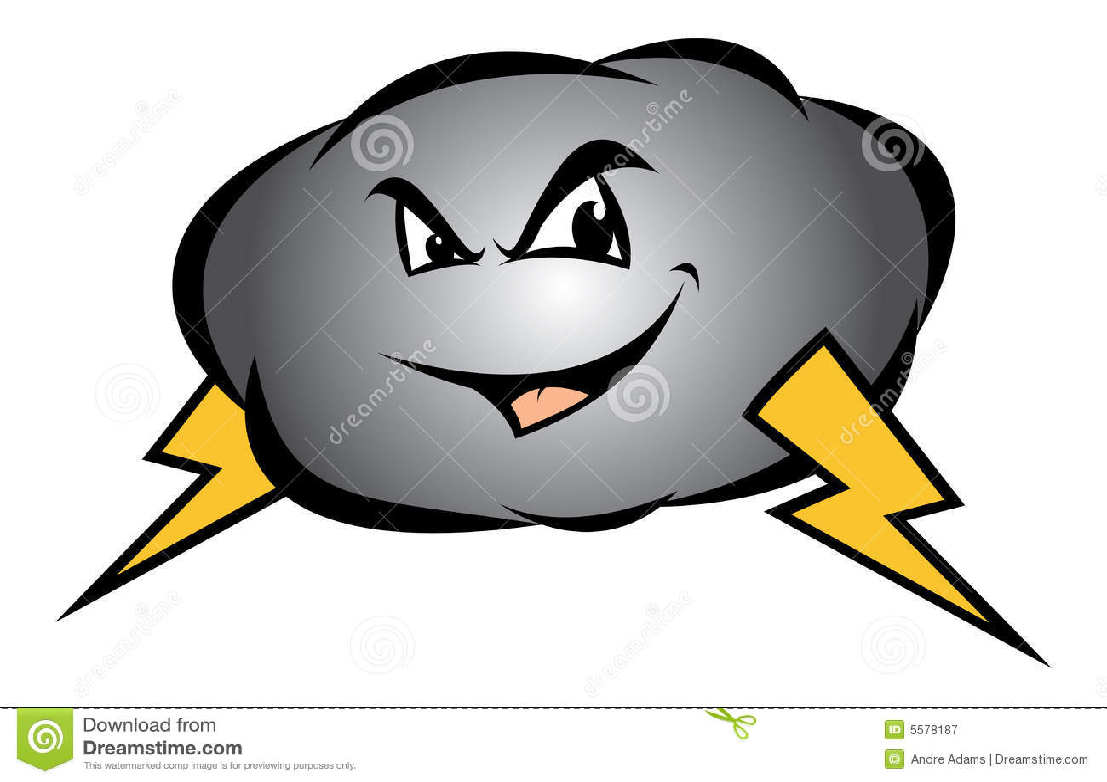 Thunderstorm Cartoon Images   Cartoon Storm