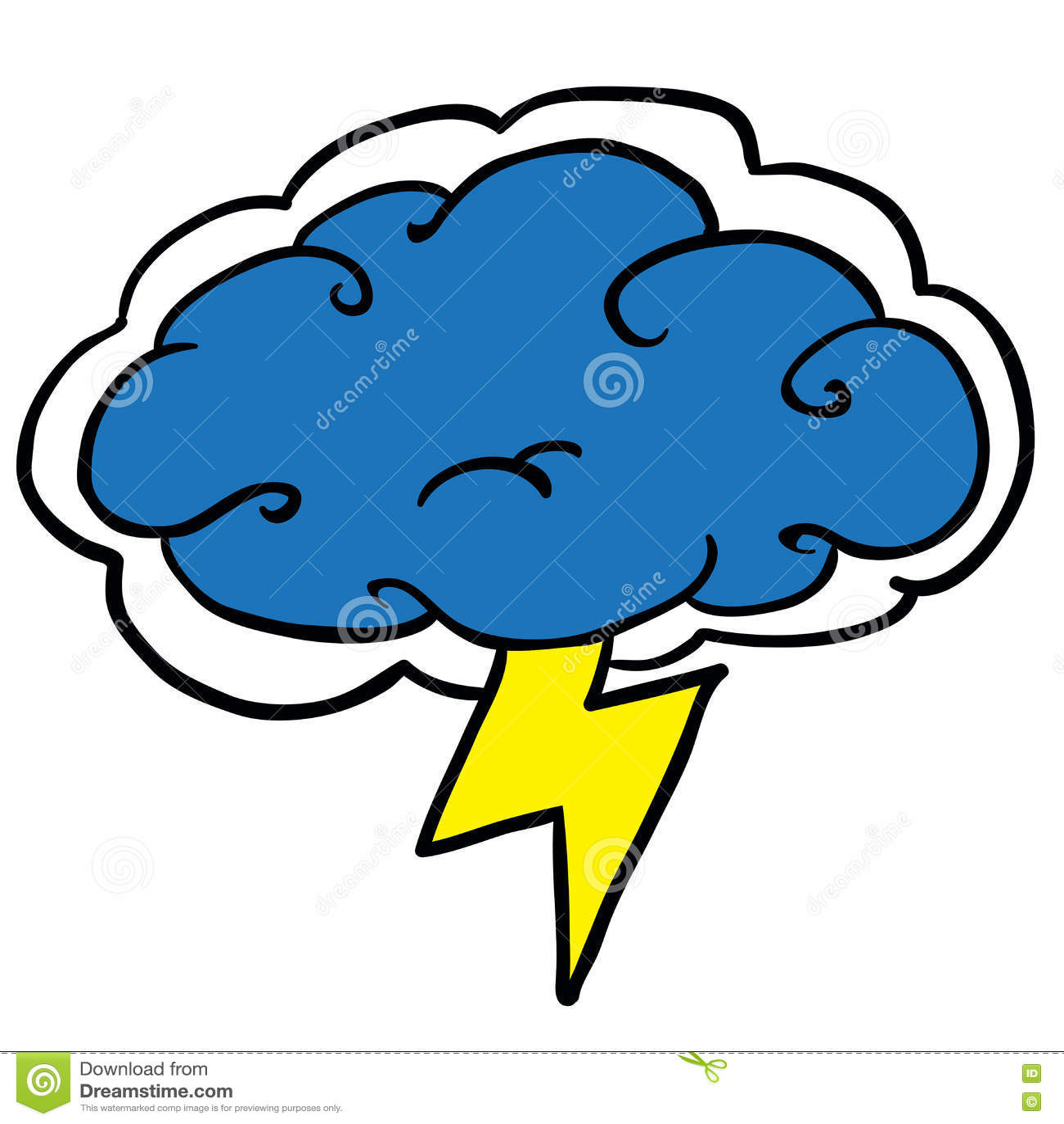 Cartoon storm cloud stock vector. Illustration of storm ...   Cartoon Storm