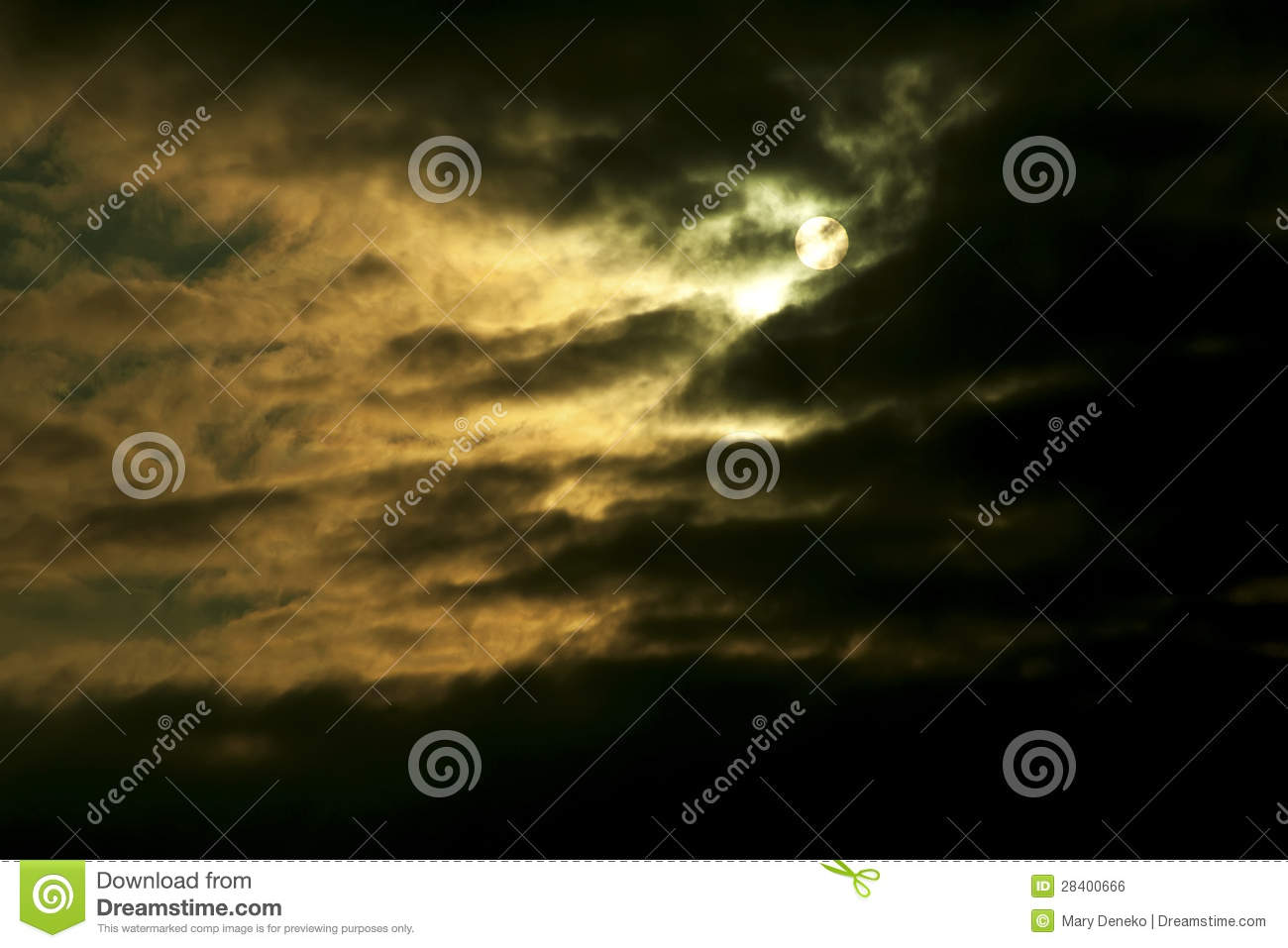 Storm Clouds and moon
