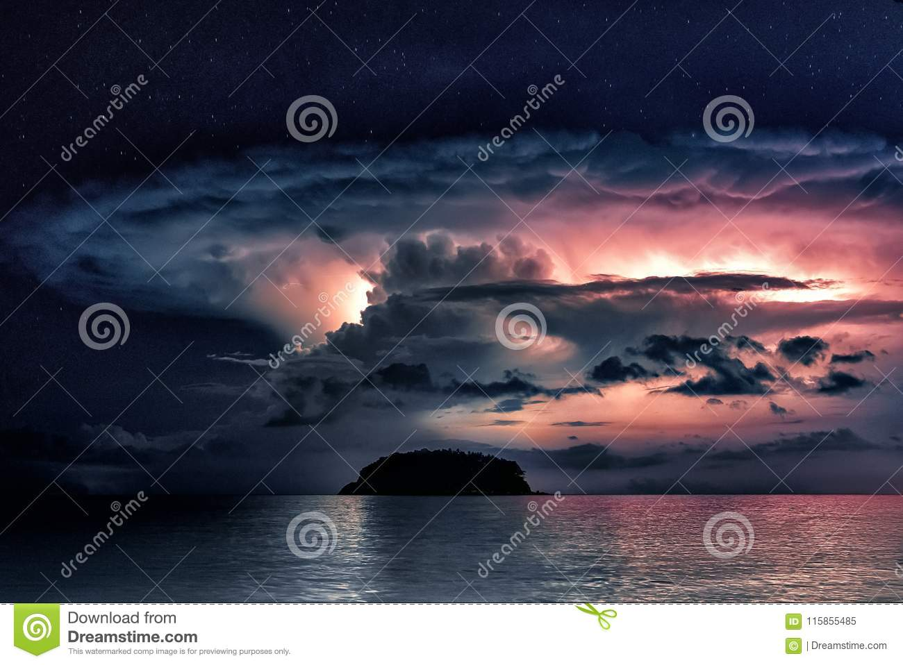 Storm clouds in the sea, Thailand