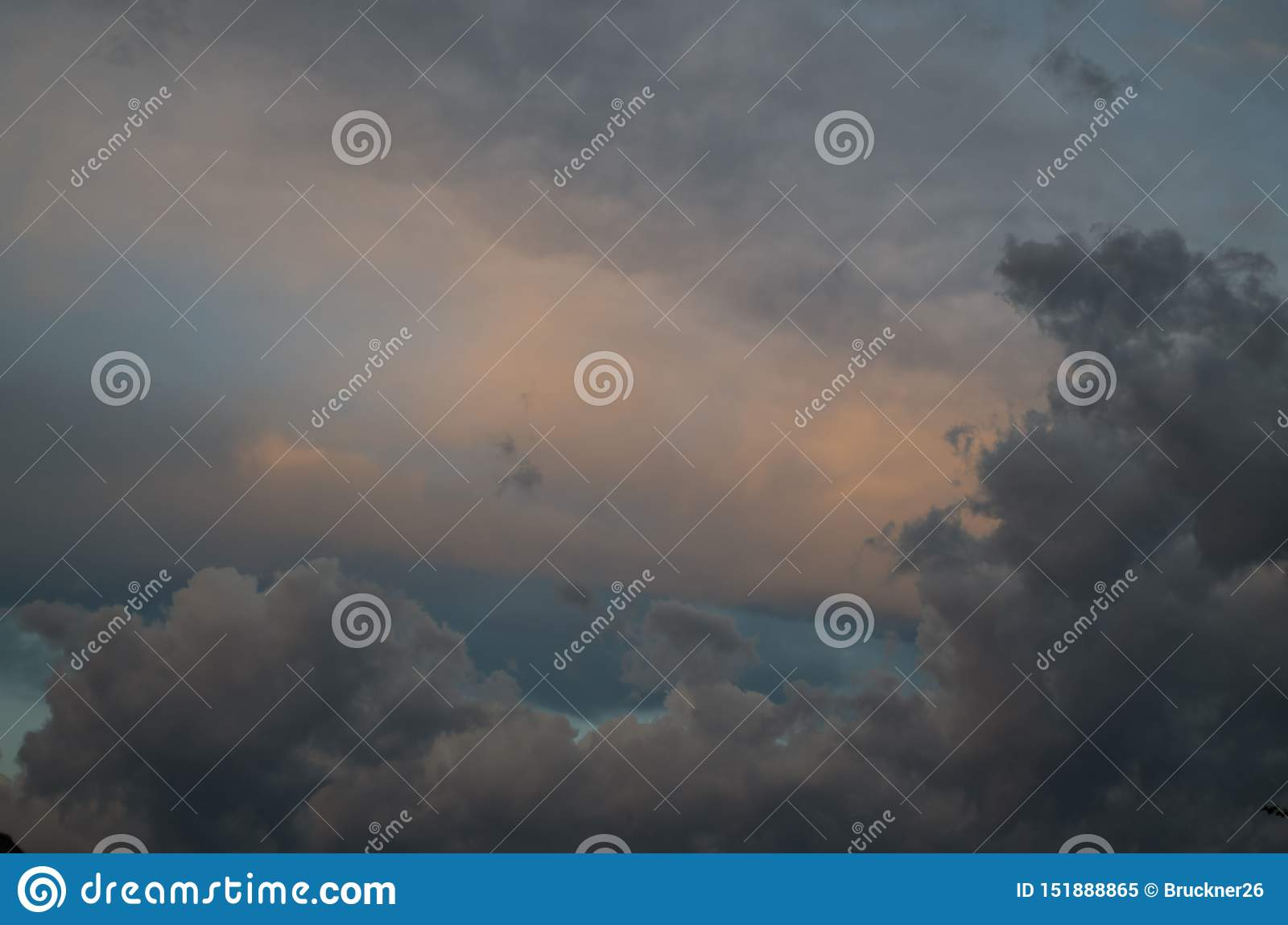 Storm clouds. The sky a background. Storm`s coming