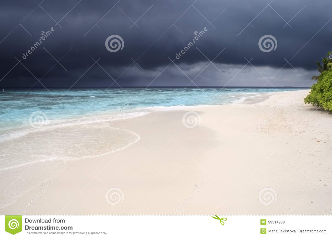 Storm is coming to the Maldives