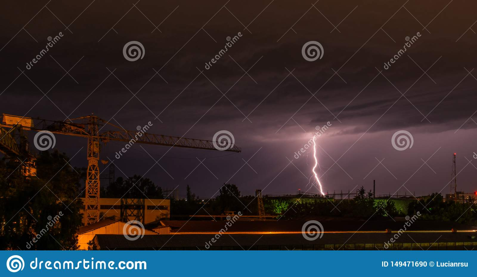 Storm i stad
