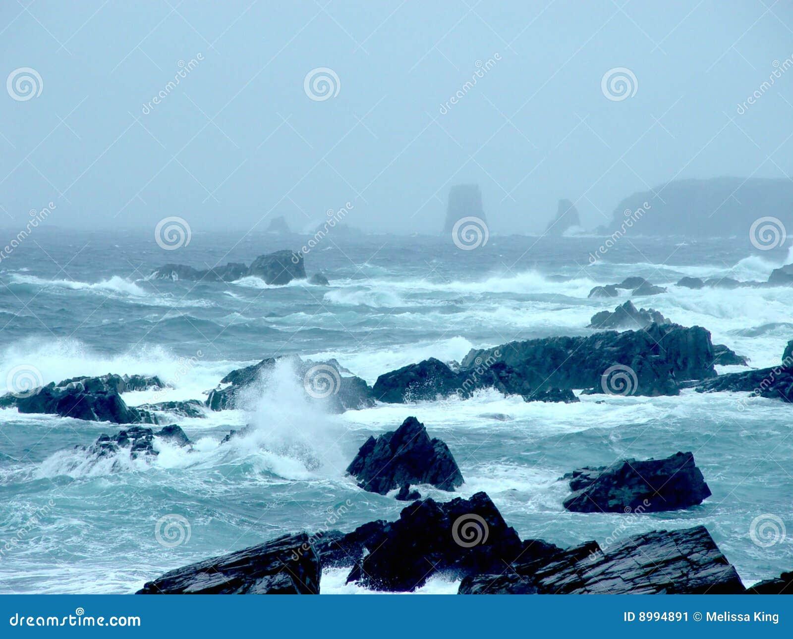 storm in newfoundland ocean stock image image 8994891. Black Bedroom Furniture Sets. Home Design Ideas