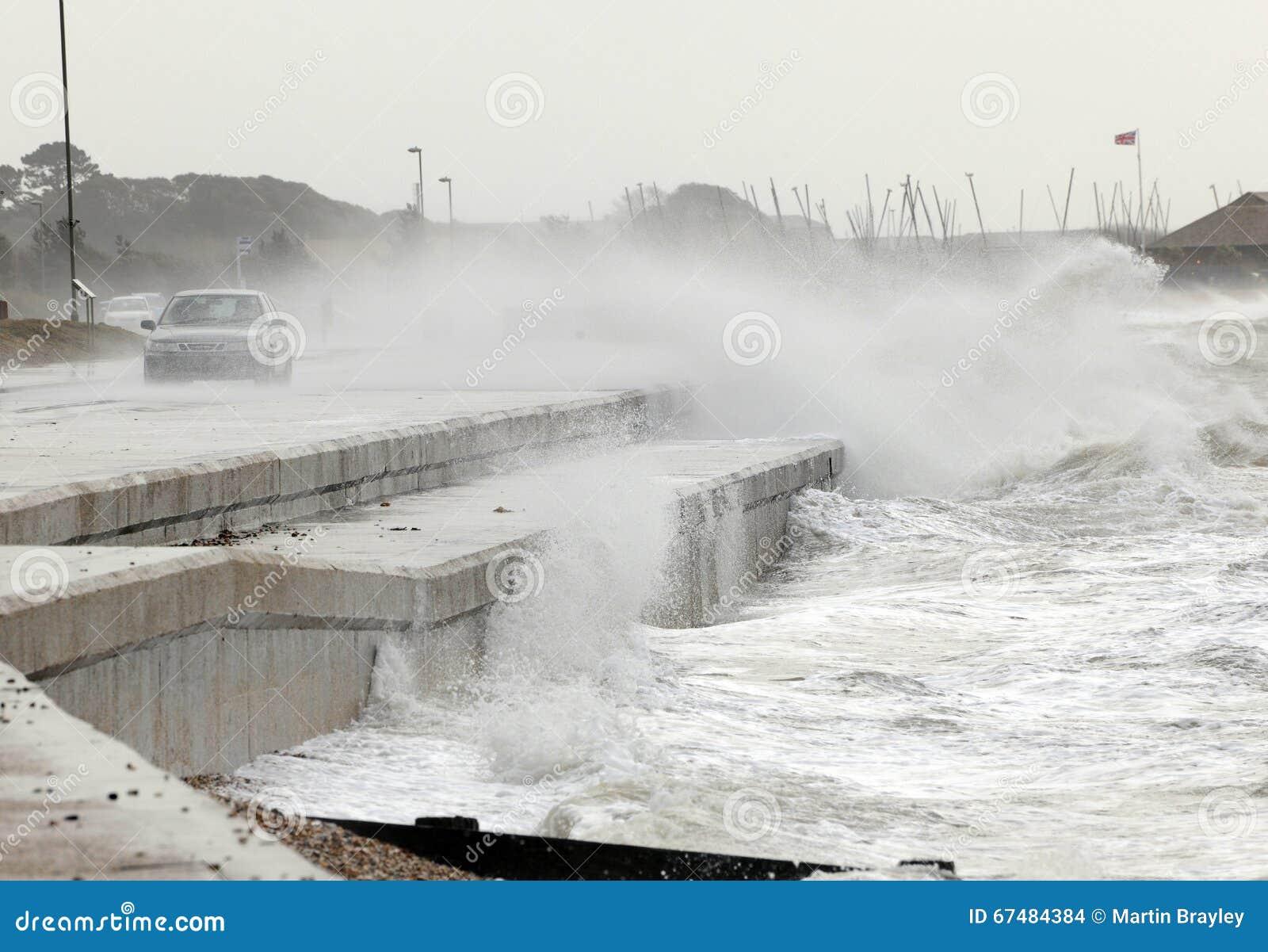 Storm på stranden
