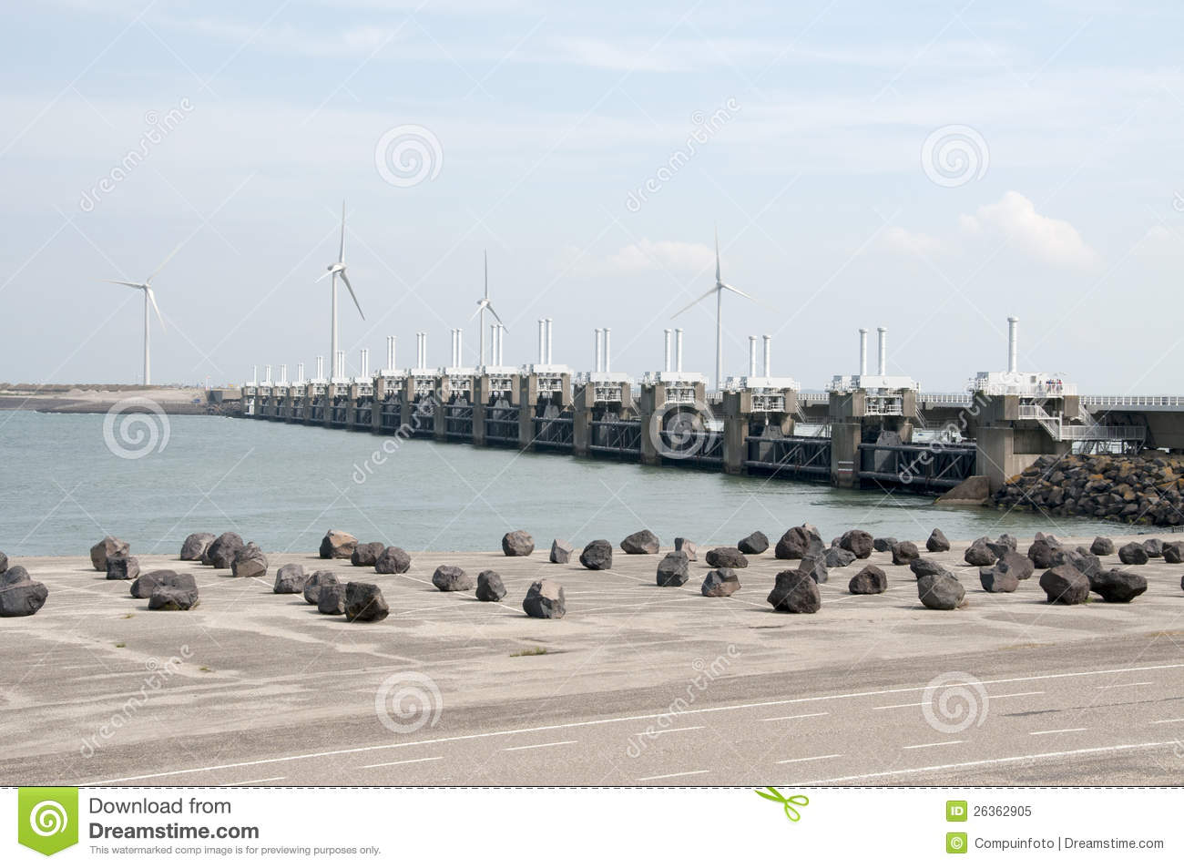 Storm surge barrier in The Netherlands
