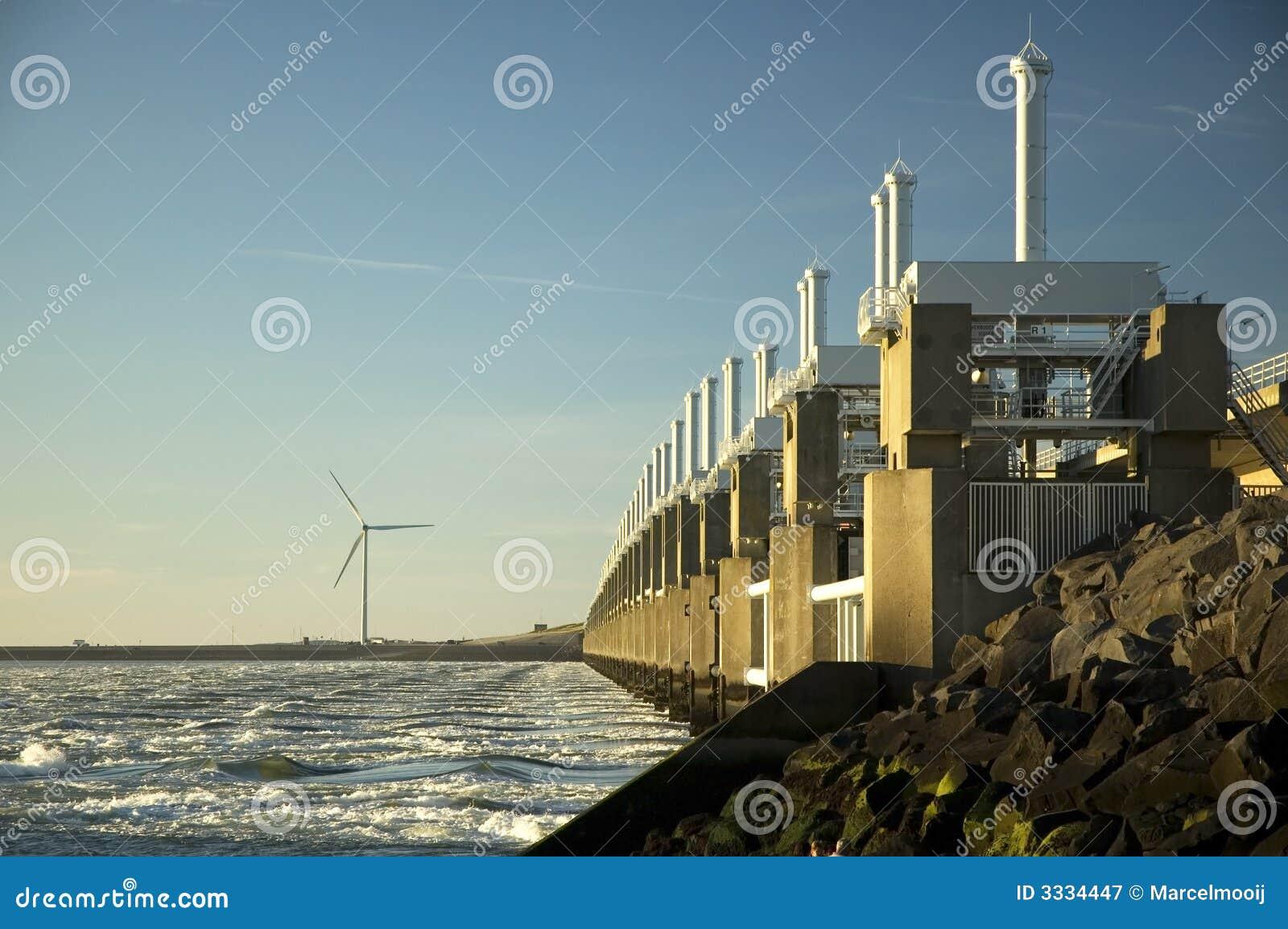 Storm surge barrier in Zeeland