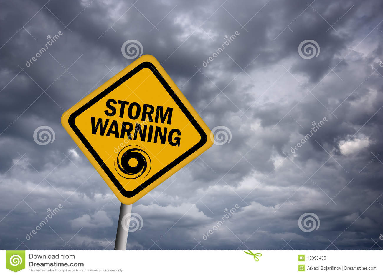 Storm Warning Sign Royalty Free Stock Photo - Image: 15096465