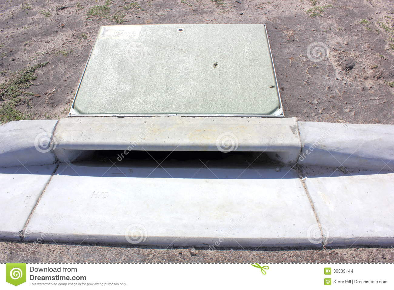 Concrete Storm Sewer : Storm water drain stock images image